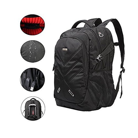 Backpack For Laptops Up To 18.4 Inch Hiking Backpack Water Resistant Travel Backpack Shockproof