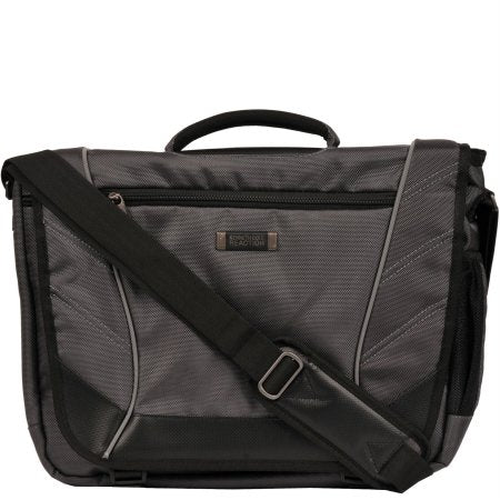 "Kenneth Cole Reaction 17"" Crossbody Laptop Messenger Bag Charcoal"