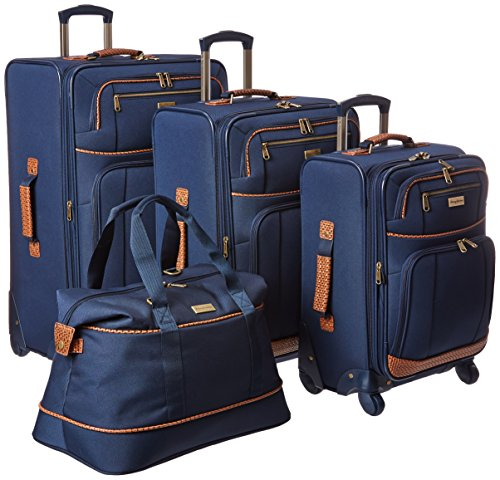 Tommy Bahama Lightweight Luggage Set - 4 Piece Suitcase Set with Spinner Wheels - 28 Inch, 24 Inch, Carry On, Duffle Bag , Navy
