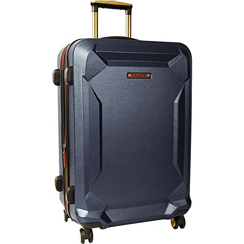 "Timberland Fort Stark 25"" Expandable Hardside Checked Spinner Luggage (Navy)"