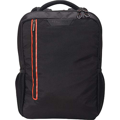 "Kenneth Cole Reaction Dual Compartment 15.6"" (RFID) Laptop Backpack Black W/Red Pop One Size"