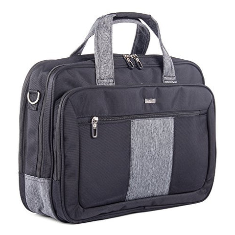 Bugatti Matt Double Gusset Executive Briefcase, Polyester, Black
