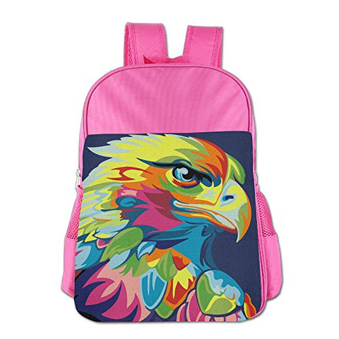Gibberkids Kid Eagle Hawk Oil Painting Colored School Bags Bookbag Boys/Girls For 4-15 Years Old