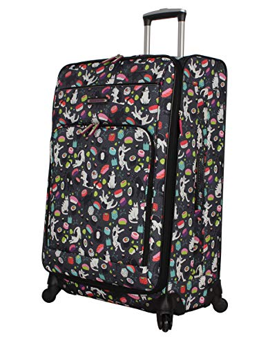 9203ff98c9fc Lily Bloom Luggage Set 4 Piece Suitcase Collection With Spinner Wheels For  Woman (Sushi Black)