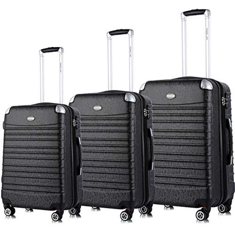 Expandable Luggage Set, TSA Lightweight Spinner Luggage Sets, Carry On Luggage 3 Piece Set