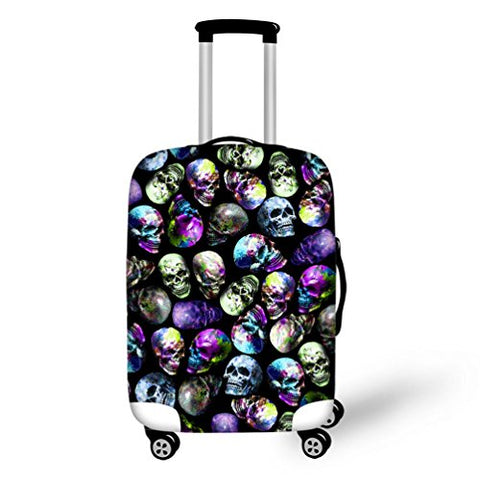 Travel Luggage Cover Cool Pirate Skull Printed Fits 18-32 Inch Suitcase