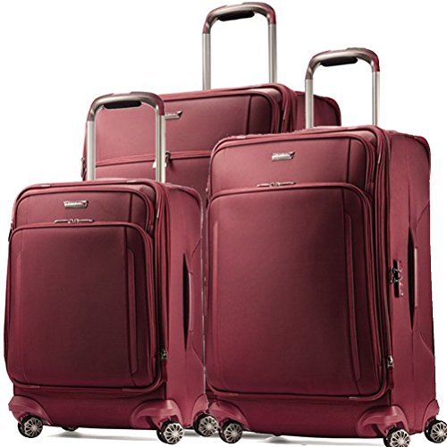 Samsonite Silhouette XV 3 Piece 21 |25 |29 Spinner Set (One Size, Napa Red)