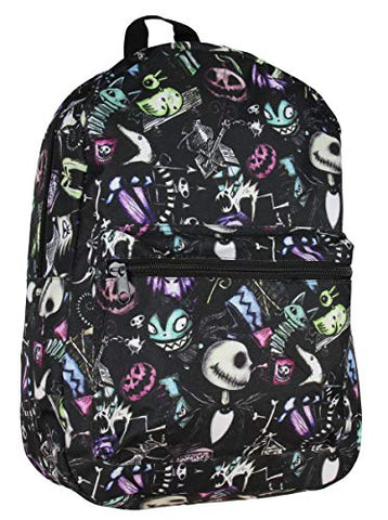Nightmare Before Christmas Jack Skellington Color Sketch Toss School Laptop Backpack