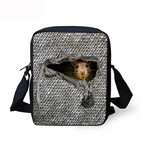Thikin 3D Dinosaur Men'S Sling Messenger Bag Women'S Animal Mini Crossbody Bag