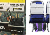 Boardingblue Personal Item Under Seat For The Airlines Of American, Frontier, Spirit, Black/Purple