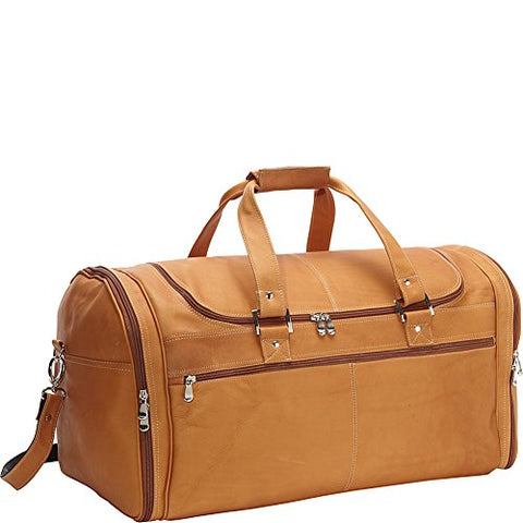 David King & Co. Deluxe Extra Large Multi Pocket Duffel, Tan, One Size