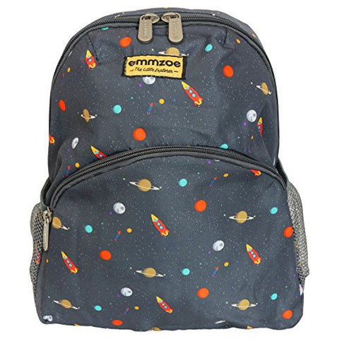 "Emmzoe ""Little Explorer"" Mini Toddler and Kids Backpack - Lightweight - Fits Lunch, Table, Food,"