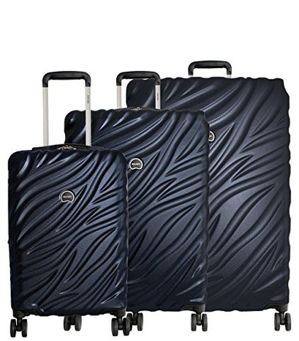 "Delsey Paris Alexis 3-Piece Lightweight Luggage Set Hardside Spinner Suitcase with TSA Lock (21""/25""/29"") (Navy)"