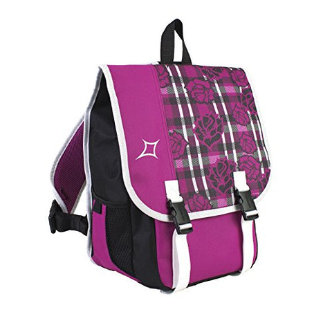 Eastsport Crossbody School Book Bag, Floral Plaid