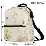 ColourLife Elegant Floral Pattern Stylish Casual Shoulder Backpacks Laptop School Bags Travel Multipurpose Daypack for Women Girls Kids