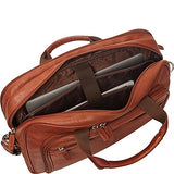 "Mancini Leather Goods Colombian Zippered Double Compartment 15.6"" Laptop/Tablet"