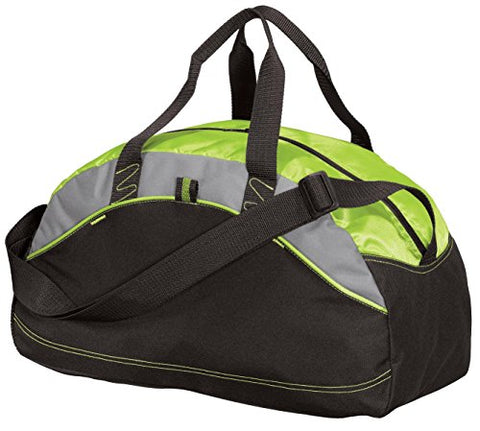 Port & Company Luggage-And-Bags Improved Medium Contrast Duffel Osfa Lime