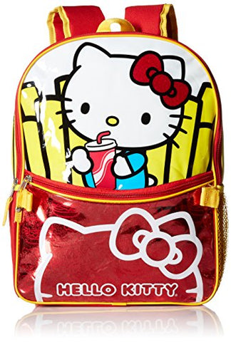 Hello Kitty Little Girls Burger And Fries 16 Inch Backpack With Lunch Kit, Various, One Size