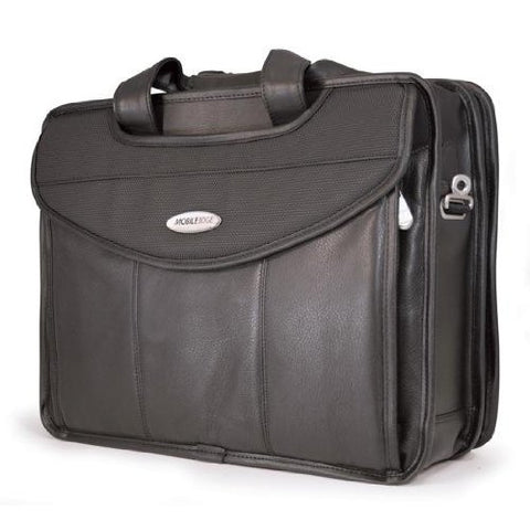 Mobile Edge Premium Leather V-Load Briefcase 2.0 For Laptops (Mevllp)