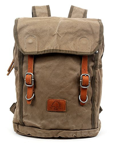 The Same Direction Forest Backpack Military Inspired Canvas And Leather Bag