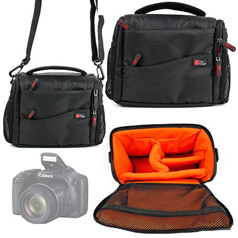 Duragadget Deluxe Quality, Shock-Absorbing & Water-Resistant Shoulder / Messenger Bag In Black &
