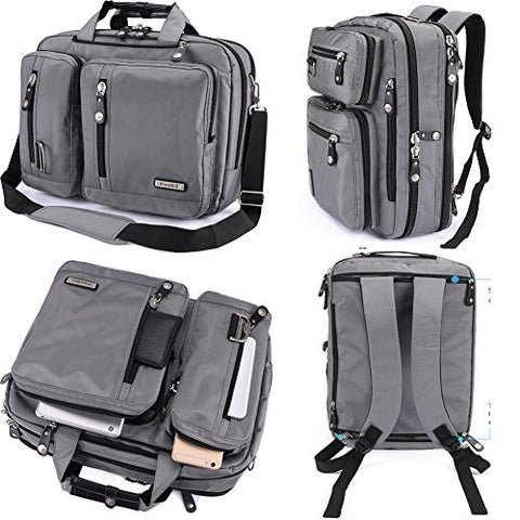 FreeBiz Laptop Bag Convertible Backpack Business Briefcase Messenger Bag Water Resistant Travel
