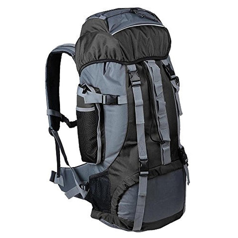 GHP 70L Capacity 600D Oxford Fabric PVC Inner Layer Large Outdoor Camping Backpack