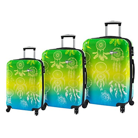 Mia Toro Love This Life - Dream Catcher Hardside Spinner Luggage 3Pc Set