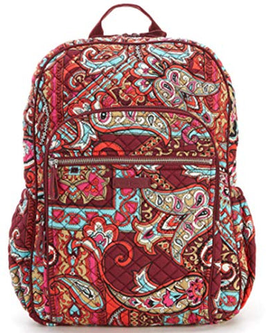 Vera Bradley Iconic Campus Backpack Regal Paisley Perfect for School and Vacations!