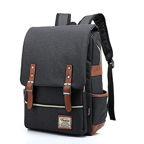 Unisex Professional Slim Business Laptop Backpack, Feskin Fashion Casual Durable Travel Rucksack