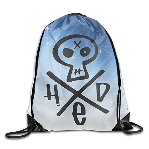 Gtaiquxin Hed Skull Logo Unisex Drawstring Gym Sack Sport Bag
