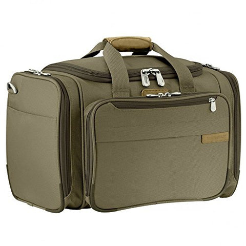 Briggs & Riley Baseline 2 Piece Set | Domestic Carry On Exp Upright | Cabin Duffel (One Size, Olive)