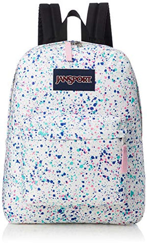 JanSport Unisex SuperBreak Splatter Dot White One Size
