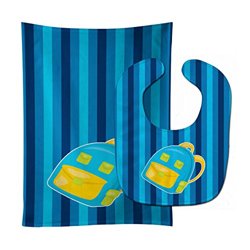 Caroline's Treasures Back to School Backpack No. 2 Baby Bib & Burp Cloth, Multicolor, Large