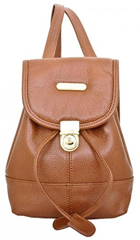 Leatherbay Mini Backpack (Dark Brown)