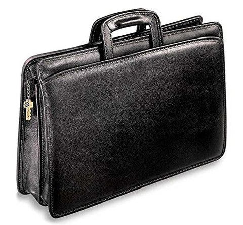 Jack Georges University Collection Double Gusset Portfolio, Black