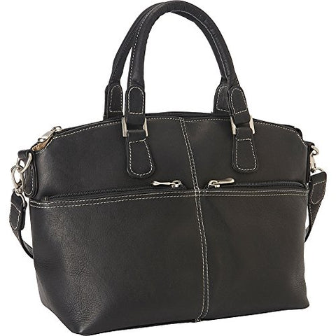 Le Donne Leather Classic Satchel (Black)
