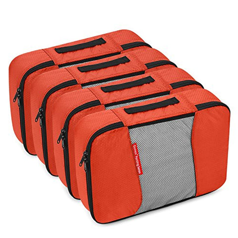 Gonex Packing Cubes Travel Organizer Cubes for Luggage 4xMedium Tangerine