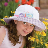 Wallaroo Girls Sophia Sun Hat - UPF 50+ - Crushable, White Cupcake