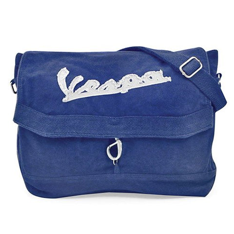 Vespa Stone Washed Canvas Bag - Blue
