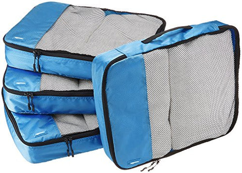 Amazonbasics 4-Piece Packing Cube Set - Large, Blue