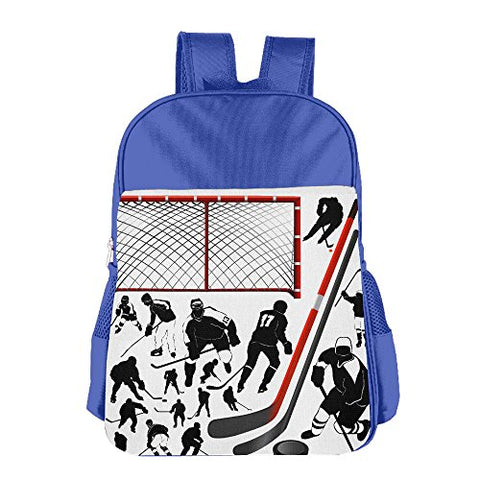 Gibberkids Child'S Hockey Player School Backpack Bookbag Boys/Girls For 4-15 Years Old Royalblue
