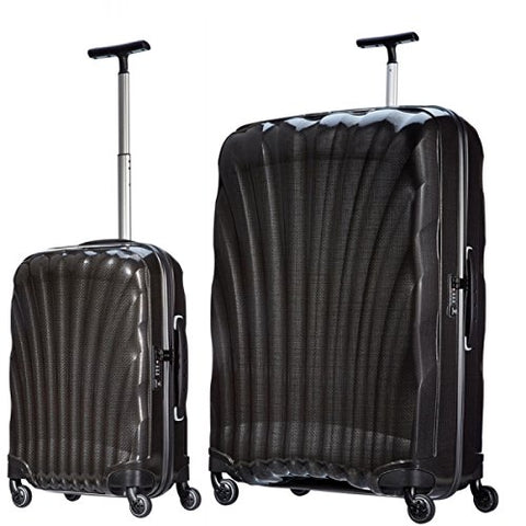 "Samsonite Luggage Black Label Cosmolite 2 Piece Spinner Luggage Set, 32"" and 20"" (One size, Black)"