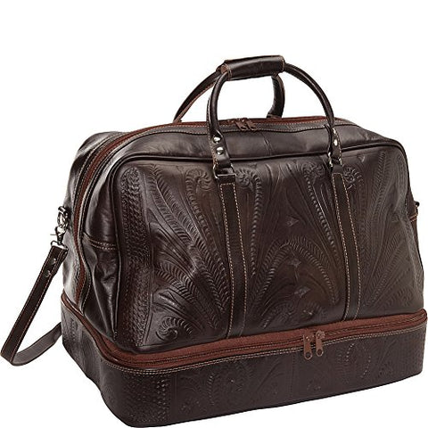 "Ropin West 23"" Leather Weekender (Brown)"
