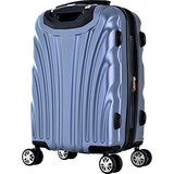 "Olympia USA Vortex 24"" Expandable Hardside Checked Spinner Luggage (Icy Blue)"