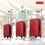 Luggage Sets 3 Piece Suitcase Password Lock Light weight Durable with Spinner Travel Carry Eco-friendly