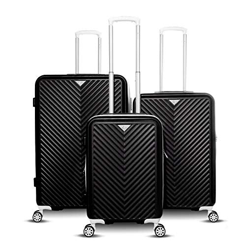 Gabbiano Explorer Collection 3 Piece Expandable Hardside Luggage Set (White)