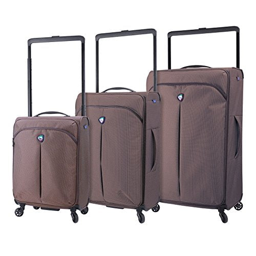 Mia Toro M1128-03Pc-Brw Italy Kitelite Nimbo Hardside Spinner Luggage 3Pc Set, Brown