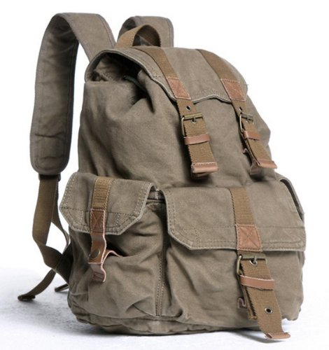 "Vagabond Traveler 20"" Large Sport Washed Canvas Backpack C04.GRN"
