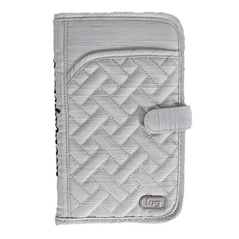 Lug Women'S Tandem Wallet, Brushed Silver